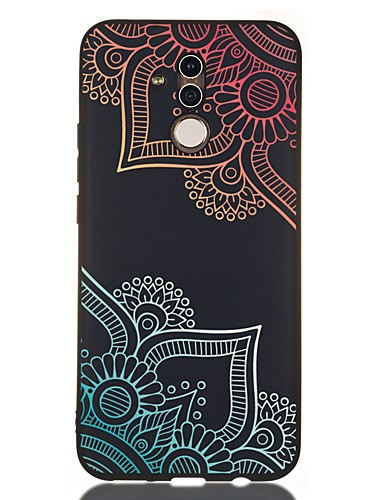 Pouzdro Uyumluluk Huawei Huawei Honor 10 / Onur 10 Lite / Huawei Honor 9 Lite Şoka Dayanıklı / Buzlu / Temalı Arka Kapak Çiçek TPU