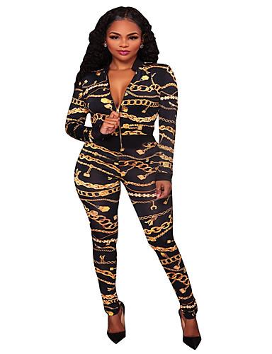 Kadın's Temel / Sokak Şıklığı Siyah Tulumlar, Solid Desen S M L