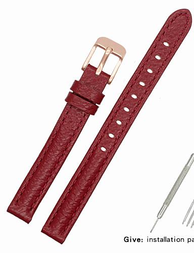 Gerçek Deri / Deri / Buzağı Tüyü Watch Band kayış için Kırmızı Diğer / 17cm / 6.69 inç / 19cm / 7.48 İnç 1cm / 0.39 İnç