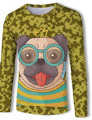 Erkek Tişört Desen, Hayvan Temel Köpek Sarı