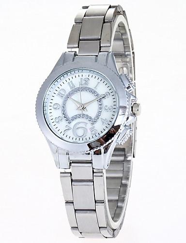 Kadın's Elbise Saat Quartz Gündelik Saatler Analog Klasik - Altın Gümüş