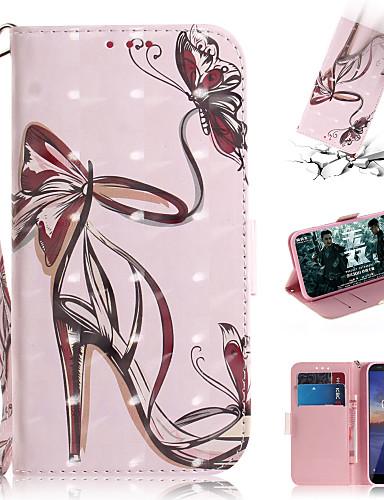 Pouzdro Uyumluluk Nokia Nokia Cüzdan / Kart Tutucu / Satandlı Tam Kaplama Kılıf Seksi Kadın PU Deri