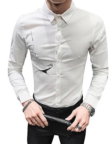 Erkek Gömlek Solid Temel Beyaz