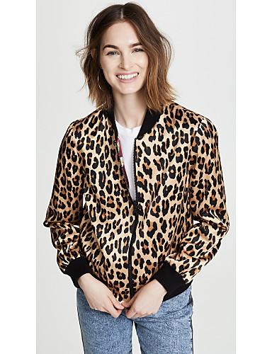 povoljno Majica-Majica Žene - Osnovni Ulica Leopard Kolaž Bijela