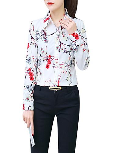 povoljno Majica-Majica Žene - Osnovni Kauzalni Cvjetni print Print Bijela