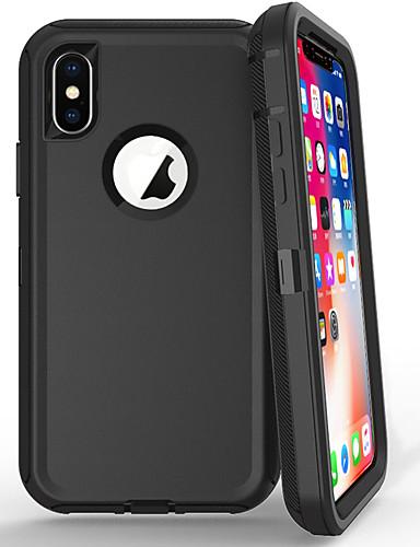 Pouzdro Uyumluluk Apple iPhone 8 Plus / iPhone 7 Plus / iPhone 6s Plus Şoka Dayanıklı / Toz Geçirmez Arka Kapak Solid Silika Jel