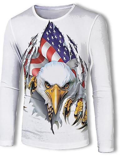 voordelige Heren T-shirts & tanktops-Heren Standaard Print T-shirt dier Wit