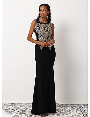voordelige Maxi-jurken-Dames Schede Jurk - Abstract, Geborduurd Maxi