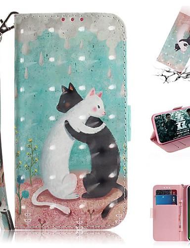 Motorola g7 / g7 artı / g7 oyun cüzdan / kart tutucu / darbeye dayanıklı tam vücut kılıfları kedi severler için pu deri moto g7 güç / moto g5s artı / moto one / moto p30 oyun