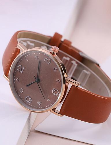 Kadın's Elbise Saat Quartz Deri Gündelik Saatler Analog-Dijital Klasik - Siyah Beyaz Kırmzı