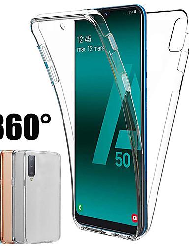 Samsung galaxy için 360 derece kılıf a70 a50 a40 a30 a20 a10 a10 a9 2018 a7 2018 a8 plua 2018 a8 2018 a6 artı 2018 a6 2018 silikon kapak 2 in 1 ön arka yumuşak tpu kılıf