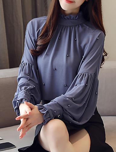 Kadın's Bluz Solid Havuz