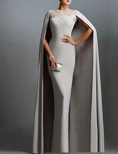 povoljno Vjenčanice-Kroj uz tijelo Ovalni izrez Šlep plašt Šifon Formalna večer Haljina s Čipkasti umetak po LAN TING Express