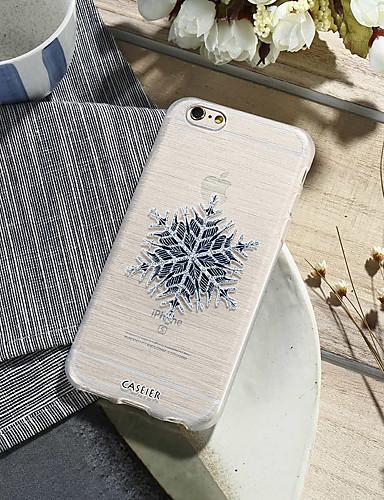 Pouzdro Uyumluluk Apple iPhone X / iPhone 7 Plus / iPhone 7 Su Geçirmez / Toz Geçirmez / Yarı Saydam Arka Kapak Çiçek TPU