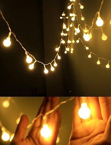 abordables Lumière de décoration de vacances-4m Guirlandes Lumineuses 40 LED EL Blanc Chaud Soirée / Décorative / Mariage Piles AA alimentées 1 set