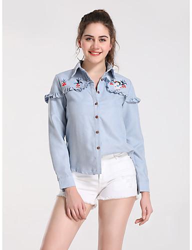billige Dametopper-Skjorte Dame - Frukt Grunnleggende Gul
