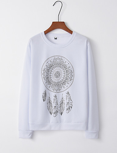 billige Dametopper-T-skjorte Dame - Tribal, Lapper Grunnleggende Hvit