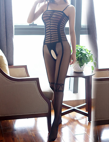 Kadın's Etekler - Solid Dantel Siyah Tek Boyut / Jartiyerli İç Giyim / Süper Seksi