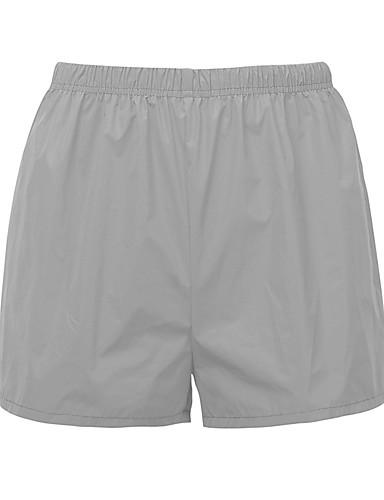 billige Tights til damer-Dame Grunnleggende Shorts Bukser - Ensfarget Grå S M L