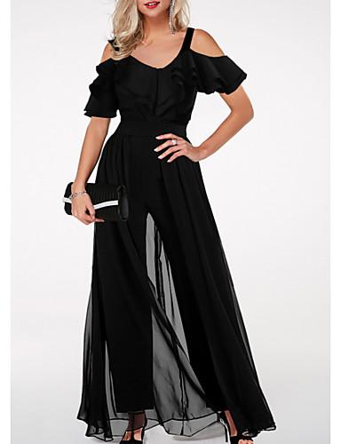 Žene Osnovni Crn Jumpsuits, Jednobojni M L XL