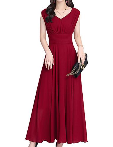 Kadın's Boho Çan Elbise - Solid Maksi