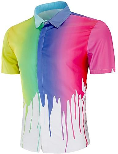 Erkek Gömlek Zıt Renkli Siyah