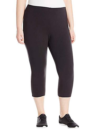abordables Pantalons Femme-Femme Sportif Chino / Joggings Pantalon - Couleur Pleine Noir Gris XL XXL XXXL