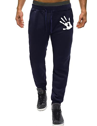 Erkek Sportif / Temel Jogger / Chinos Pantolon - Desen Stortif / Desen Siyah Açık Gri Koyu Gri US32 / UK32 / EU40 US34 / UK34 / EU42 US36 / UK36 / EU44