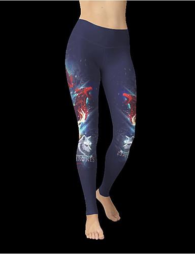 Kadın's Podstawowy Legging - Desen, Desen Yüksek Bel Havuz L XL XXL / Dar
