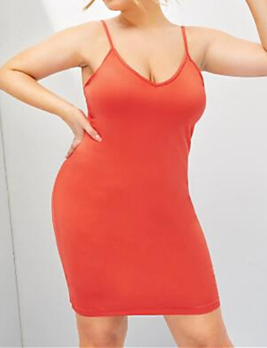 voordelige Grote maten jurken-Dames Boho Street chic A-lijn Bodycon Jurk - Effen, Blote rug Boven de knie