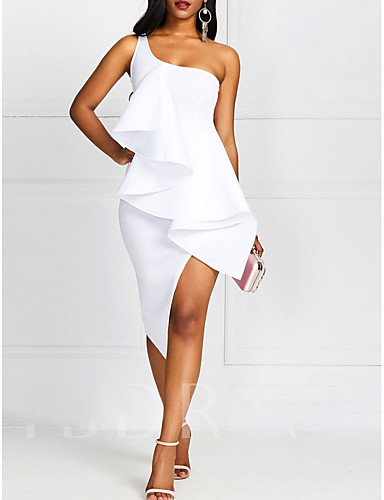 cheap Autumn New Outfits-Women's A Line Dress - Solid Colored White M L XL XXL