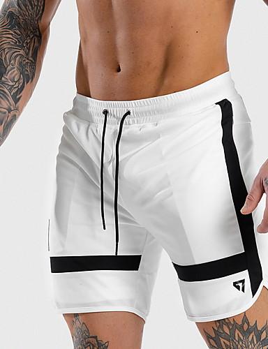 Erkek Temel Şortlar Pantolon - Solid / Çok Renkli Siyah Beyaz US32 / UK32 / EU40 US34 / UK34 / EU42 US36 / UK36 / EU44