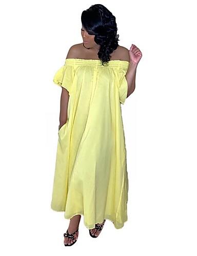 Kadın's Kombinezon Elbise - Solid Maksi