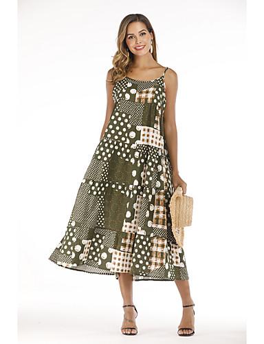Kadın's Boho Set - Arkasız / Desen, Çiçekli Elbiseler
