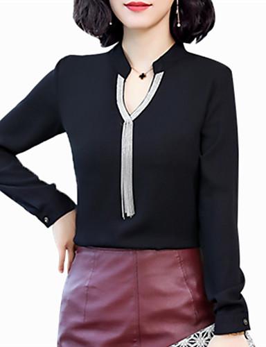povoljno Majica-Majica Žene - Kinezerije Party Jednobojni Šljokice Crn