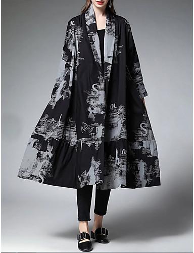 billige Kjoler-Dame Elegant Skiftet Kjole - Geometrisk, Trykt mønster Midi