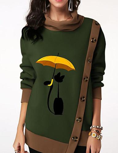 billige Dametopper-T-skjorte Dame - Grafisk Vin