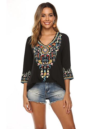 povoljno Majica-Majica Žene Dnevno Geometrijski oblici Crn