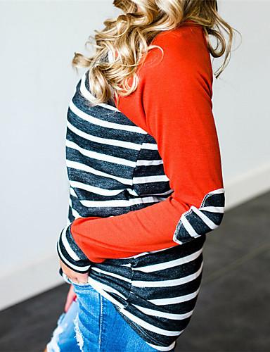 billige Dametopper-T-skjorte Dame - Stripet Gatemote Oransje