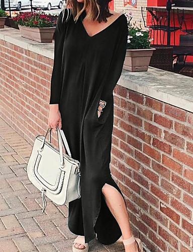 voordelige Maxi-jurken-Dames Abaya Jurk - Effen Maxi