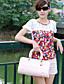 ieftine Bluze Damă-dantelă stil de moda impodobit T-shirt alb