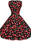 Χαμηλού Κόστους Βίντατζ Βασίλισσα-'50 Maggie Τανγκ γυναικών εκλεκτής ποιότητας κεράσι rockabilly Hepburn pinup cos κόμμα swing φόρεμα 570