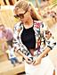 economico Giacche da Donna-Per donna Quotidiano / Fine settimana Moda città Primavera & Autunno Corto Giubbino, Fantasia floreale Rotonda Manica lunga Poliestere / Punto roma Con stampe Schermo a colori M / L / XL