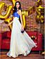 A-Şekilli Yere Kadar Şifon Aplik ile Balo Resmi Akşam Elbise tarafından TS Couture®
