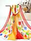 olcso Chic Colorful Chiffon Scarves-Női Nyomtatott Sifon, Vintage Bájos Party Alkalmi - Téglalap
