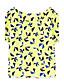 baratos Blusas Femininas-Meters/bonwe® Feminino Colarinho de Camisa Manga Curta Shirt & Blusa Amarelo-225525