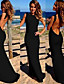 cheap Maxi Dresses-Women's Backless Sexy Backless Solid Color Bodycon Maxi Dress