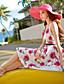 Mulheres Bainha / Swing / Rodado Vestido,Férias / Happy-Hour / Praia Vintage / Boho / Sofisticado Floral Decote V Acima do JoelhoSem