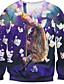 voordelige Herenhoodies & Sweatshirts-Heren Casual/Dagelijks Sweatshirt 3D Print Katoen Polyester Lange mouw Lente Herfst Winter