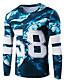 Masculino Camiseta Esportes Casual Primavera Outono,Estampado Algodão Manga Longa